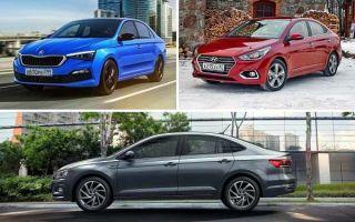 Лифтбеки B-класса: Skoda Rapid, Hyundai Solaris, Volkswagen Polo