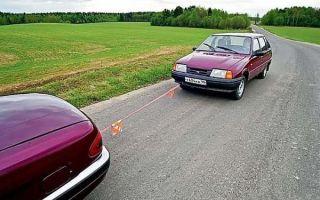 Правила буксировки автомобиля на гибкой сцепке