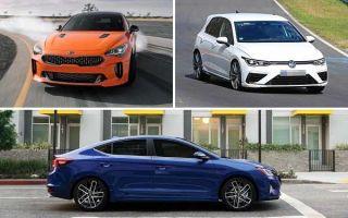 Бюджетные заряженные автомобили 2020 года: Kia Stinger, Volkswagen Golf R, Hyundai Elantra