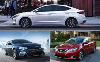 Среднеразмерные седаны 2020 года: Hyundai Elantra, Kia Optima, Nissan Sentra