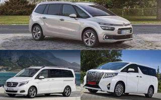Полноразмерные минивэны: Citroen Grand C4 Picasso, Mercedes-Benz V-Class, Toyota Alphart