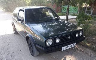 Ретро обзор: Volkswagen Golf 1989 года