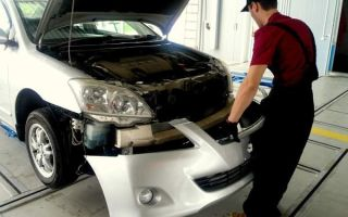 Как установить новый передний бампер