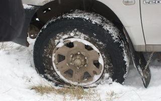 Прокол колеса зимой: рекомендация к действию