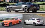 Люксовые купе 2018 года: Lexus RC F, Aston Martin Vantage,  Mercedes Benz C63 AMG