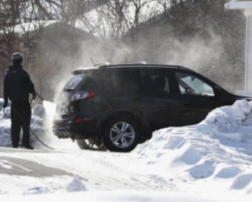Как мыть автомобиль, когда на улице сильный мороз