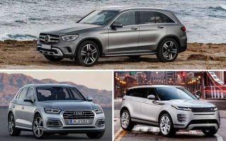 Среднеразмерные кроссоверы 2020 года: Mercedes-Benz GLC, Audi Q5 Sportback, Land Rover Evoque