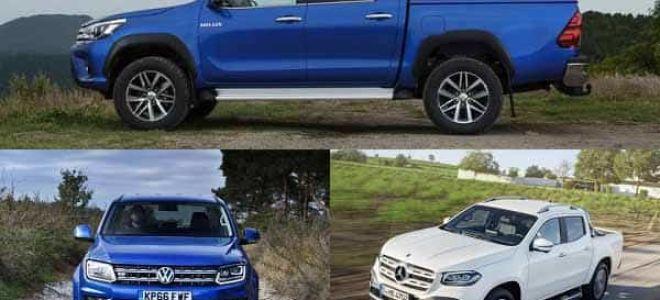 Пикапы: Toyota Hilux, Volkswagen Amarok, Mercedes-Benz X-Class