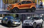 Субкомпактные кроссоверы: Ford EcoSport, Nissan Juke, Toyota C-HR
