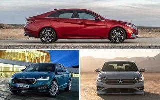 Седаны C-класса: Hyundai Elantra, Skoda Oktavia, Volkswagen Jetta