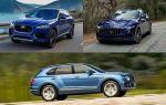 Первые кроссоверы популярных брендов: Jaguar F-Pace, Maserati Levante, Bentley Bentayga