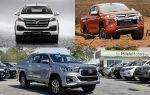 Пикапы: Mitsubishi L200, Foton Tunland, Toyota Hilux
