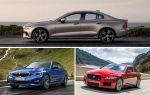 Седаны D-класса: Volvo S60, BMW 3 Series, Jaguar XE
