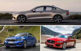 Седаны D-класса: Volvo S60, BMW 3 Series, Jaguar XE