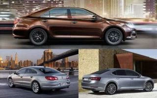 Седаны бизнес-класса: Skoda Superb, Toyota Camry, Volkswagen Passat CC