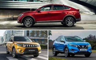 Кроссоверы со слабыми двигателями Renault Arcana, Suzuki Vitara, Nissan Qashqai