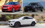 Среднеразмерные кроссоверы: Land Rover Discovery Sport, BMW X4, Mercedes-Benz GLC
