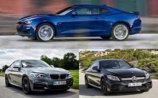 Спортивные купе: Chevrolet Camaro, BMW 2 Series, Mercedes-Benz C-class Coupe