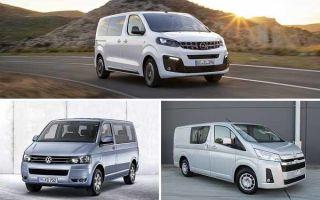 Выбор автомобиля – минивэны: Opel Zafira Life, Volkswagen Multivan, Toyota Hiace