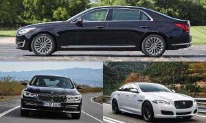 Представительские седаны: Genesis G90, BMW 730, Jaguar XJ