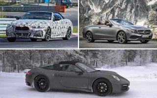 Кабриолеты 2020 года: BMW 4-Series Convertible, Mercedes-Benz E-Class Cabriolet, Porsche 922 Targa