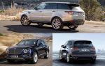 Автомобили с большими дизельными двигателями: Land Rover Range Rover Sport, Porsche Cayenne, Bentley Bentayga
