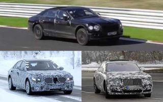 Автомобили представительского класса 2020 года: Bentley Continental Flying Spur, Mercedes-Benz S-Class, Rolls-Royce Ghost