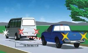 Правила буксировки автомобиля тросом