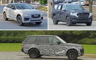 Полноразмерные кроссоверы с гибридными установками: Jaguar F-Pace, Jeep Grand Cherokeee, Land Rover Range Rover