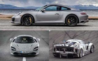 Спорткары 2018 года: Porsche 911, McLaren BP23, Ferrari FXX K Evoluzione