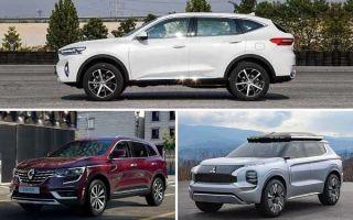 Среднеразмерные кроссоверы до 2000000 рублей: Haval F7, Renault Koleos, Mitsubishi Outlander