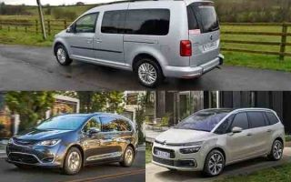 Минивэны: Volkswagen Caddy Maxi, Citroen Grand C4 Picasso, Chrysler Pacifica
