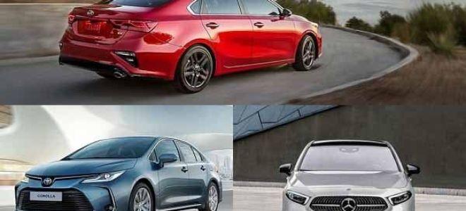 Седаны C-класса: Kia Cerato, Toyota Corolla, Mercedes-Benz A200