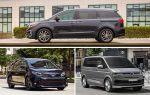 Минивэны 2020 года: Kia Sedona, Toyota Sienna, Volkswagen Multivan