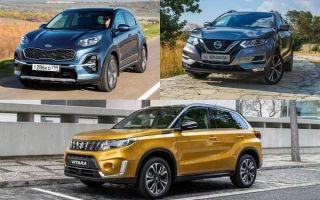 Компактные кроссоверы: Kia Sportage, Nissan Qashqai, Suzuki Vitara