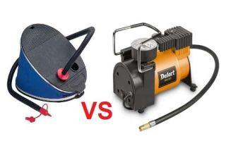 Что выбрать: ножной насос или электрический компрессор?