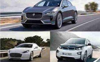 Электромобили 2018 года: Jaguar I-Pace, Aston Martin Rapide, BMW i3
