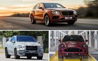 Люксовые кроссоверы 2020 года: Bentley Bentayga, Mercedes-Benz AMG GLE 63 Coupe, Aston Martin DBX