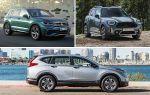 Компактные кроссоверы: Volkswagen Tiguan, Mini Countryman, Honda CR-V
