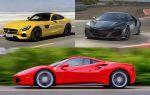 Спорткары 2018 года: Mercedes-Benz AMG GT Black Series, Acura NSX-S. Ferrary 488 GTB