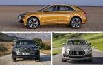 Полноразмерные кроссоверы с мощными двигателями: Audi Q8, BMW X7, Maserati Levante