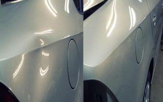 Выравнивание вмятин на автомобиле без покраски
