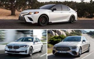Автомобили бизнес-класса российской сборки: Toyota Camry, BMW 5 Series, Mercedes-Benz E-Class