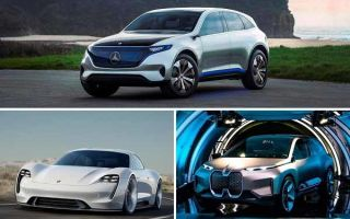 Электрические автомобили: Mercedes-Benz EQ, Porsche Taycan, BMW iNext