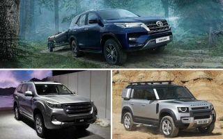 Настоящие внедорожники: Toyota Fortuner, Haval H9, Land Rover Defender