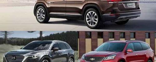 Полноразмерные кроссоверы: Volkswagen Teramont, Mazda CX-9, Chevrolet Traverse