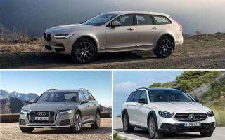 Универсалы повышенной проходимости: Volvo V90 Cross Country, Audi A6 Allroad Quattro, Mercedes-Benz E-Class All-Terrain