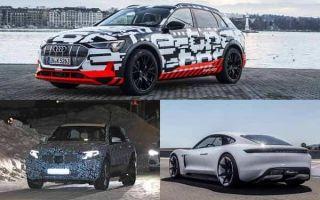 Люксовые электрические автомобили: Porsche Taycan, Mercedes-Benz EQC, Audi E-Tron Quattro