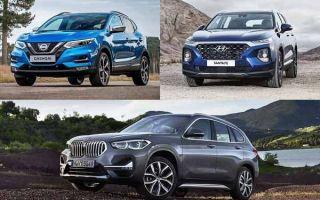 Кроссоверы за 2 миллиона рублей: Nissan Qashqai, Hyundai Santa Fe, BMW X1
