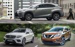 Гибриды: Lexus NX 300h, Nissan Murano, Mercedes-Benz GLE 500e